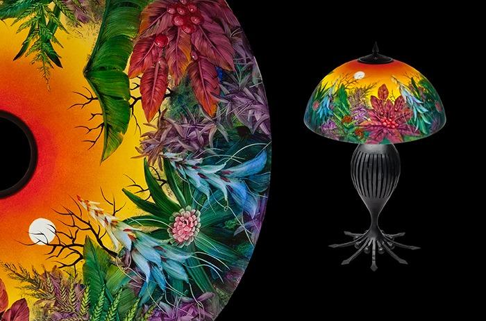 malowane ręcznie lampy