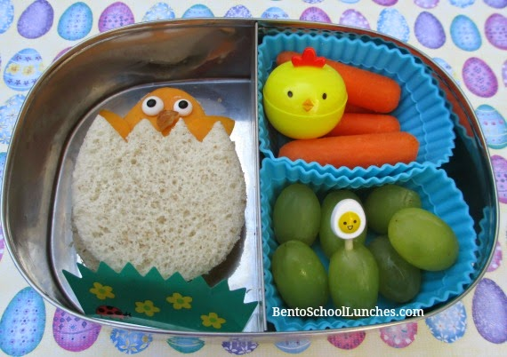 Chick Easter bento school lunch