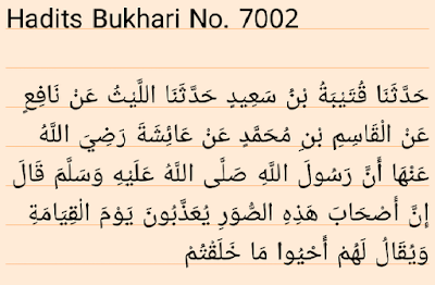 Hadit Shahih Bukhari 7002