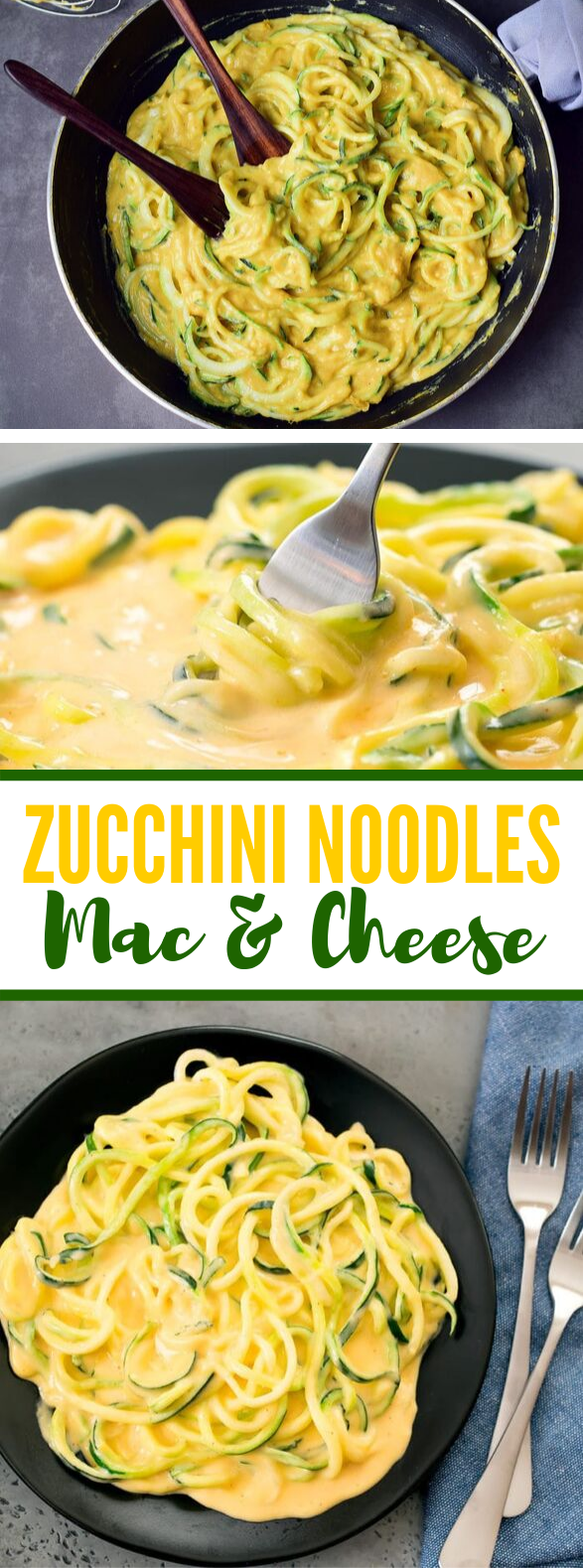 ZUCCHINI NOODLES MAC & CHEESE #lowcarb #healthy