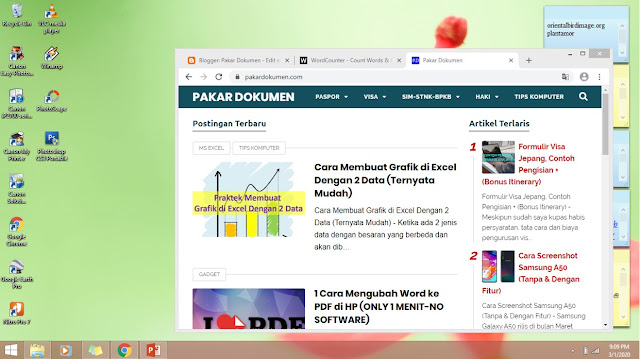 cara screenshot di laptop - tombol print screen dan alt