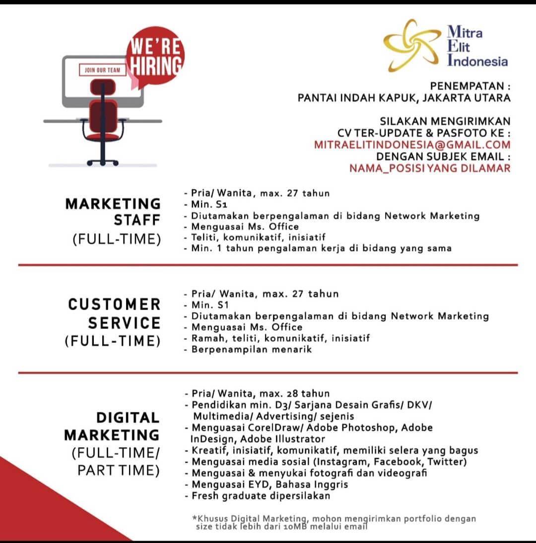 4 Contoh Iklan Lowongan Kerja Marketing Agar Banyak Pelamar Bloggadogado