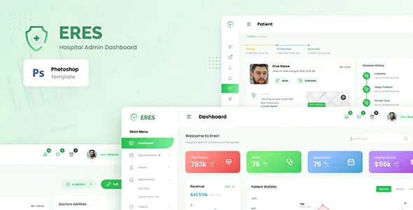 Download Hospital Admin Dashboard User Interface Template