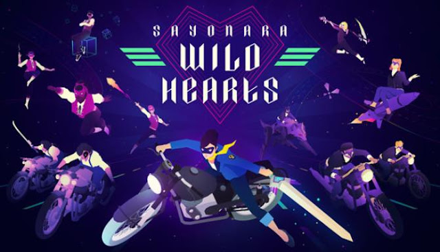 Sayonara Wild Hearts is a musical rhythmic action game with a third-person view.