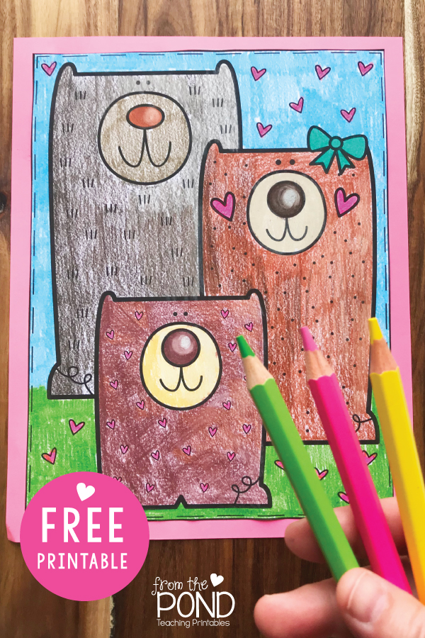 Teddy Bear Coloring Page Free