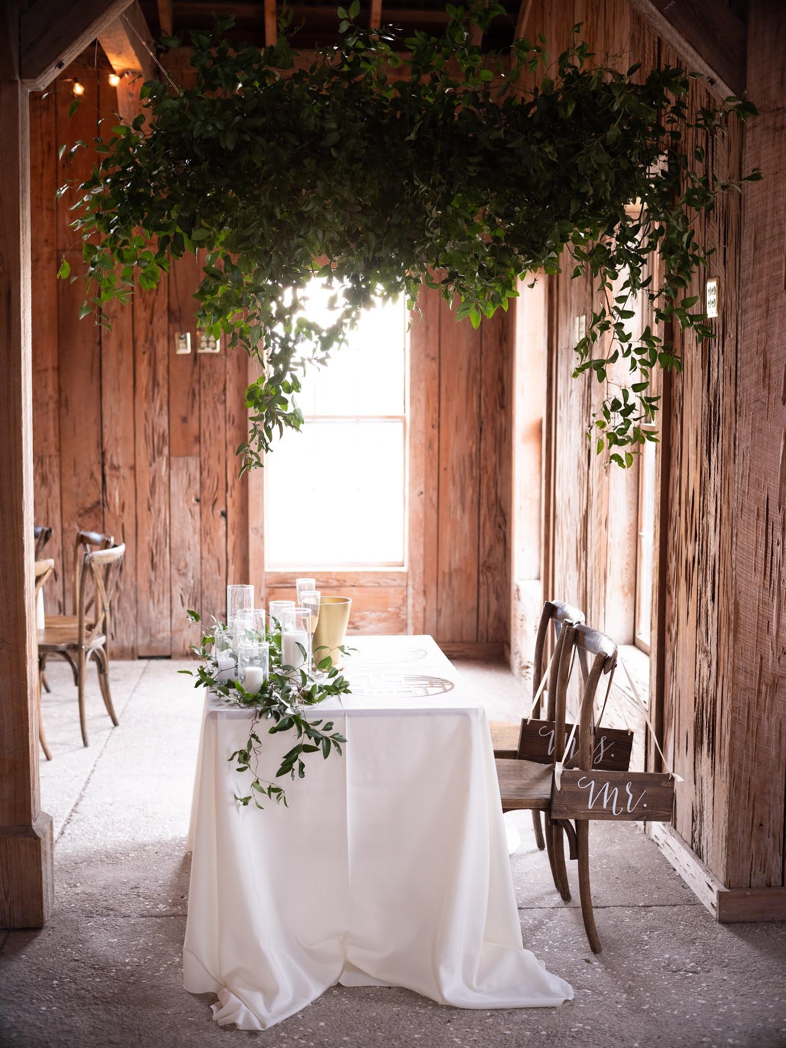 Charleston Wedding Florals Greenery - Chasing Cinderella