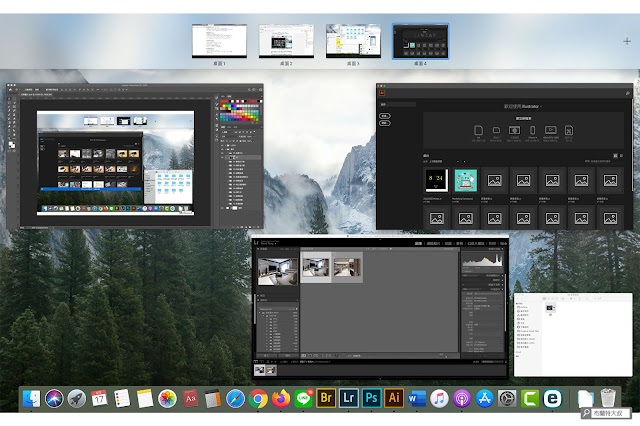 【MAC 幹大事】提升效率的多重桌面 / 分割顯示 - 開啟指揮中心
