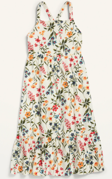 Old Navy Sleeveless Printed Midi Dress
