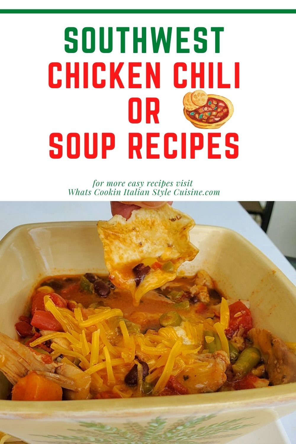 this is a pin for later Southwestern chili recipe
