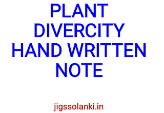 PLANT DIVERSITY HAND WRITTEN NOTE