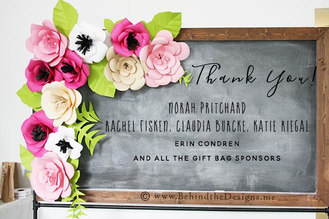 Willowcrest Lane Planner Workshop -Thank you Sponsors -Paper Flower Bouquet -Behind the Designs Recap