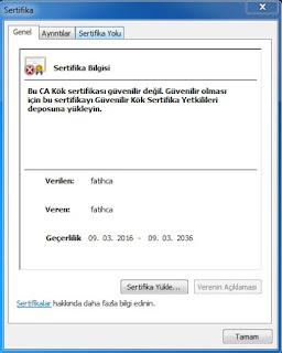 F@tih Projesi Google Sertifika Hatası Bilgisayar