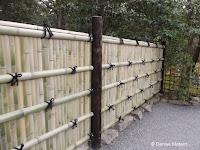 Two-meter high bamboo fence, Kinkaku-ji Garden - Kyoto, Japan