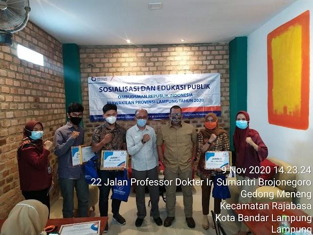 Ucapan Terimakasih Humas Lampung Untuk Ombudsman RI