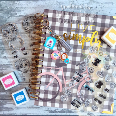 planner, planner charms, diy, kraftin' kimmie stamps, trendy tees, stamping, copics