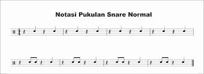 gambar notasi snare normal