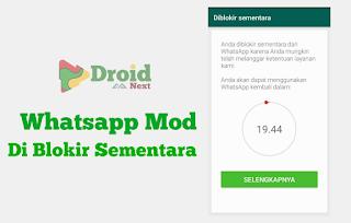 Solusi dan Cara Mengatasi Whatsapp Mod Yang di Blokir Sementara