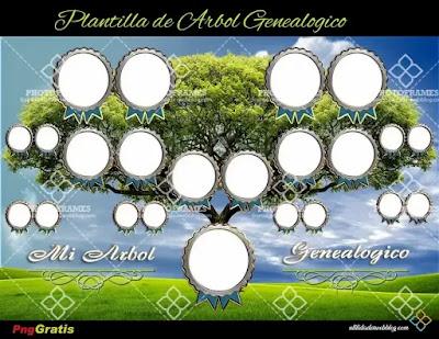 Árbol genealógico que incluyen a tíos, primos, hermanos y bisabuelos