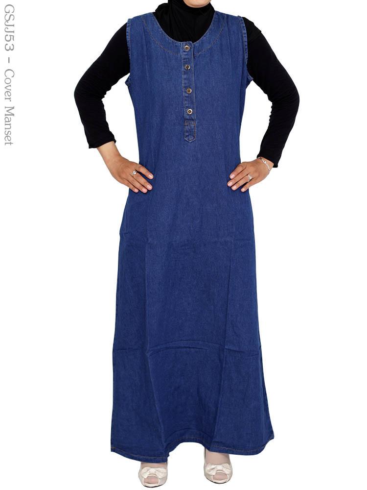 Gsjj53 Gamis Jeans Jumbo Busana Muslim Murah Terbaru