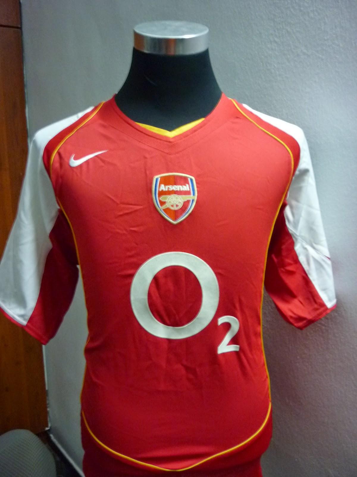 detailed look d5457 63259 MELANKOLIK: jersey Arsenal 2004 home (SOLD)