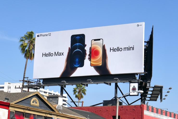 Apple iPhone 12 Hello Max mini billboard