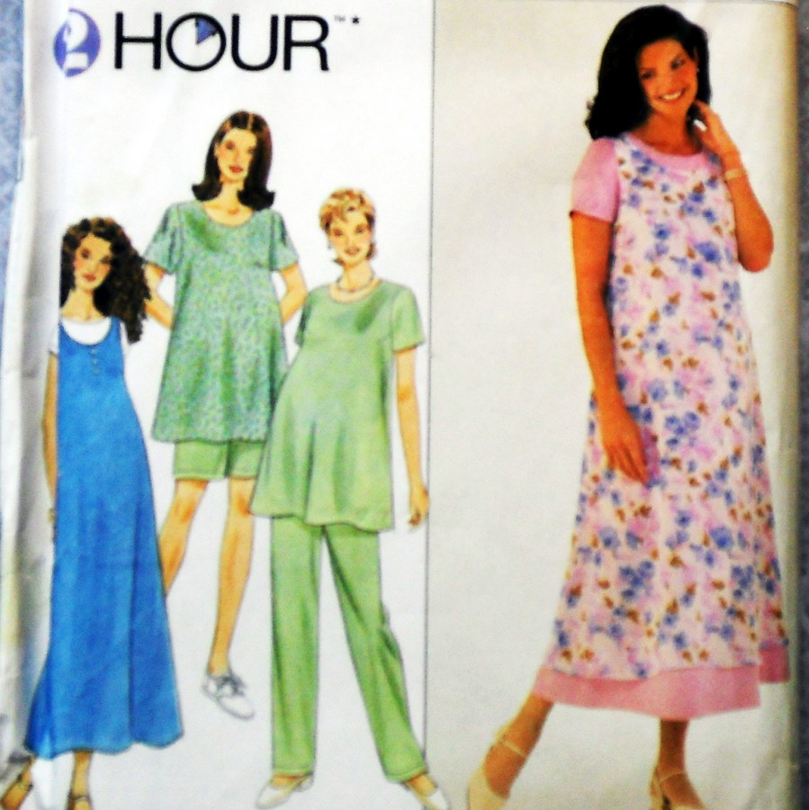24113949f03fd Vintage 1990s Sewing Pattern - Trapeze Maternity Dress Top Jumper. Scooped  Neckline. Flare Fit. Pull on Pants.Simplicity 8589 - available here