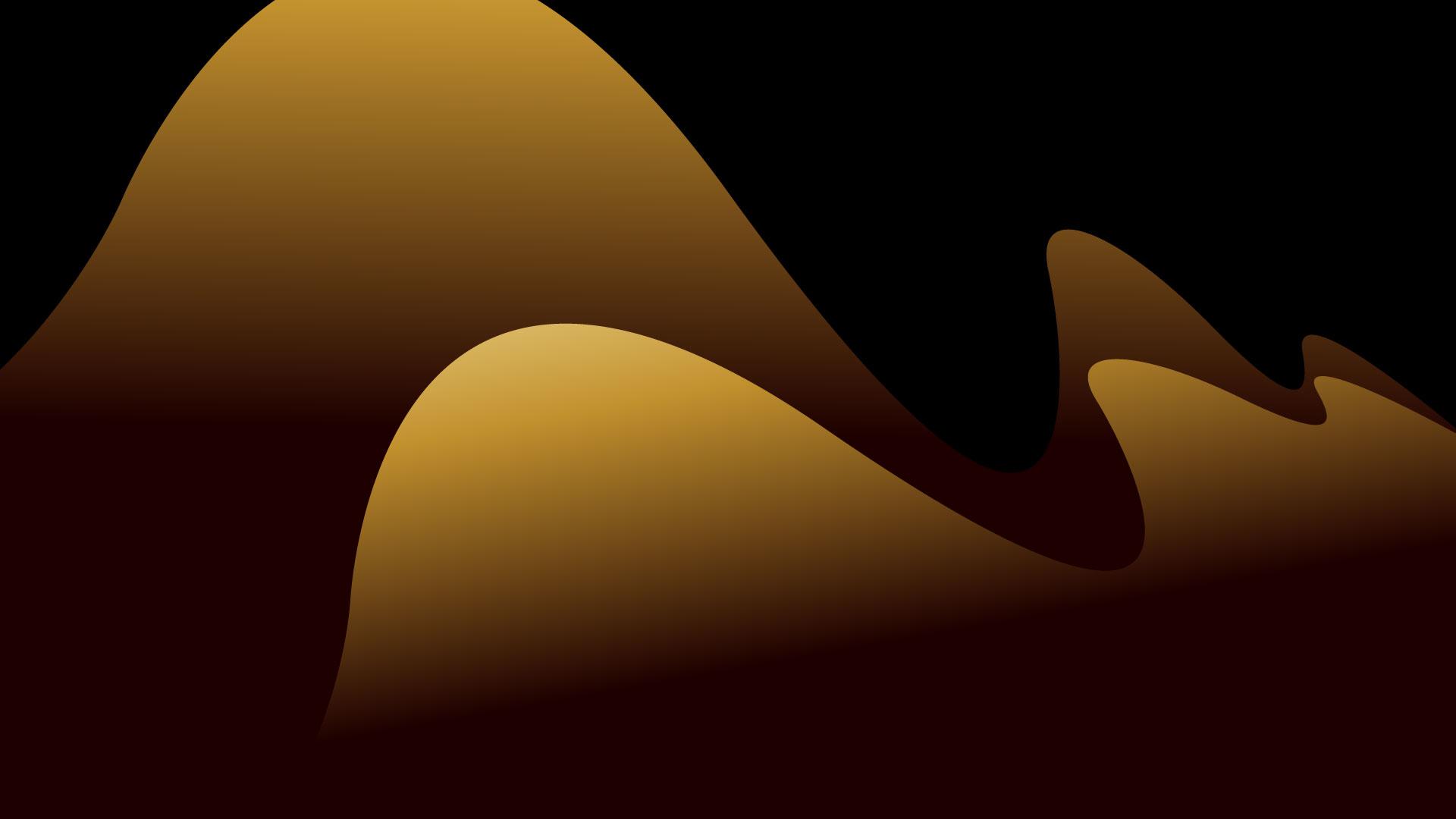 black gold wave