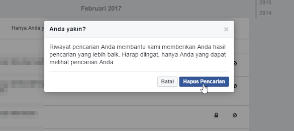 Tips Menghapus History Pencarian Facebook