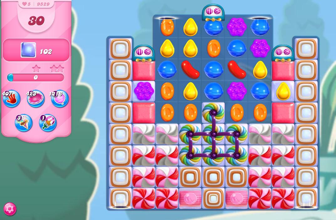 Candy Crush Saga level 9529