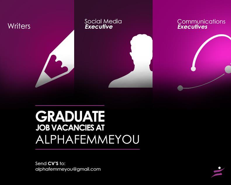 Graduate Job Vacancies at Alpha Femme You - WELCOME TO ...