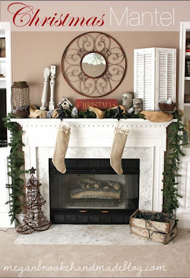 Rustic and Earthy Christmas Mantel