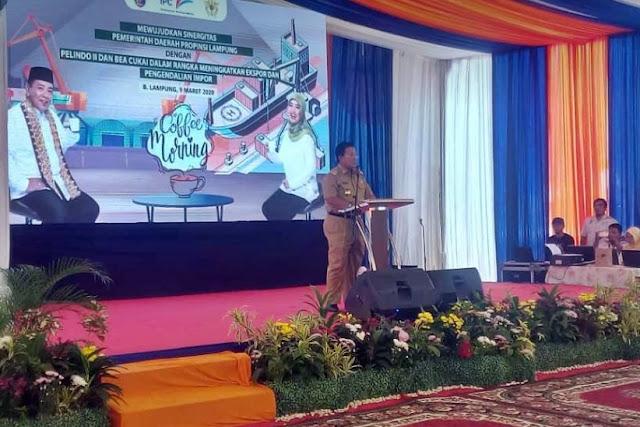 Gubernur Ajak Pelindo II, Bea Cukai dan Pelaku Usaha Tingkatkan Ekspor Lampung