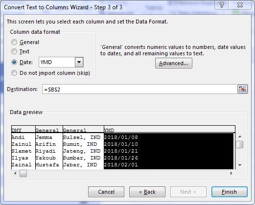 Cara Split Cell di Excel