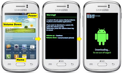 Cara Flash Samsung Galaxy Young GT-S6310 via ODIN