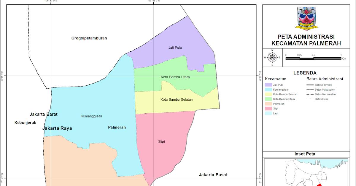 Peta Administrasi Kecamatan Palmerah, Kota Jakarta Barat ...