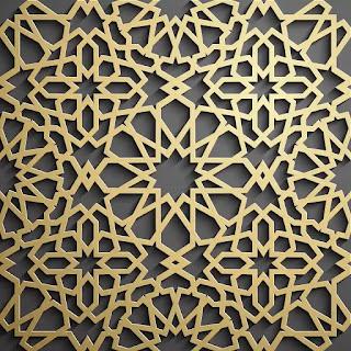 تحميل باترن إسلامي ثلاثي الأبعاد باللون الذهبي 2