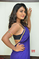 Actress Priya in Blue Saree and Sleevelss Choli at Javed Habib Salon launch ~  Exclusive Galleries 048.jpg