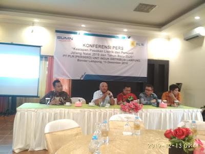 PLN Lampung Siapkan Pasokan Listrik Selama Natal dan Tahun Baru 2020