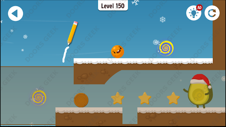 Where's My Avocado? Level 150 Solution, Cheats, Walkthrough, 3 Stars for Android, iPhone, iPad and iPod