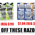 WOW!! 12 Ct Gillette Sensor3 Men's Disposable Razors $1.97 (Reg $16), 9 Count Gillette Mach3 Sensitive Men's Disposable Razors $4.98 (Reg $19.46)