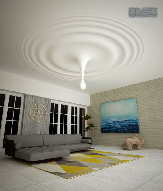 Modern Interior Decoration Living Rooms Ceiling Designs: 25 Gypsum Board Design Ideas To Do In Your Home