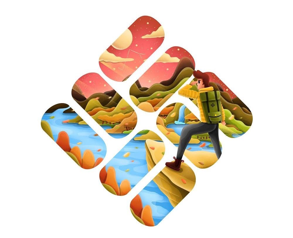 Markenlogos neu Illustriert | David Huynh integriert die Philosophie in die Logos von Adidas, Nike, Columbia usw....