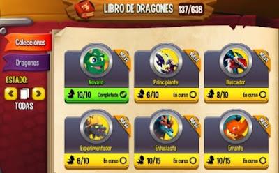 imagen de la nueva actualizacion del libro de dragones de dragon city