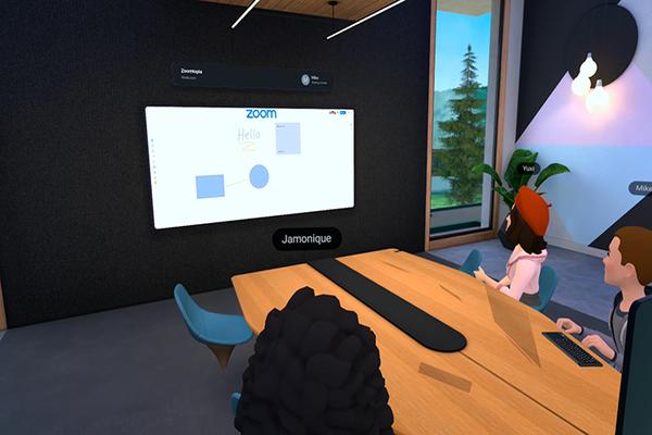 أوكلوس تعلن عن التعاون مع Zoom على منصتها للواقع الافتراضي Horizon Workrooms