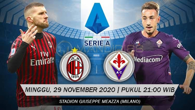 Prediksi AC Milan Vs Fiorentina, Minggu 29 November 2020 Pukul 21.00 WIB