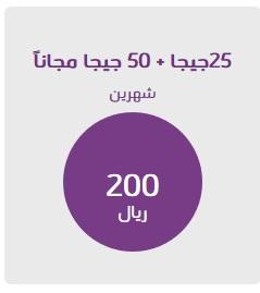 شرح الإشتراك في باقة إنترنت 200 ريال 25 جيجا من stc الإتصالات السعودية 2021