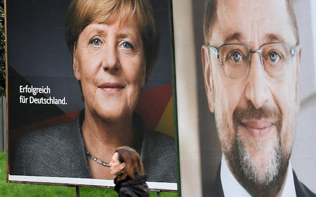 Angela Merkel obteve uma vitória decisiva na eleição deste domingo (24), de acordo com as sondagens.