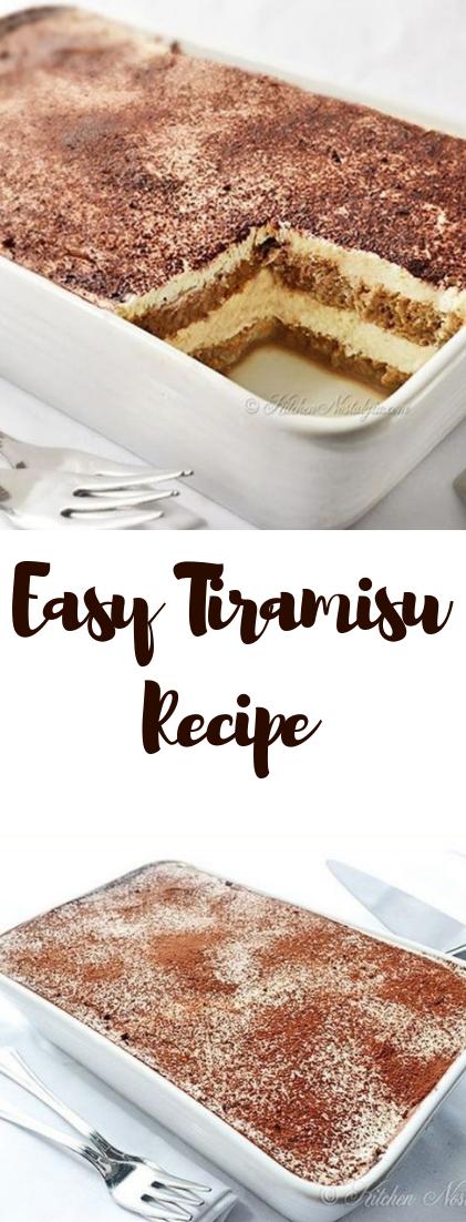 Easy Tiramisu Recipe #Dessert #recipeeasy