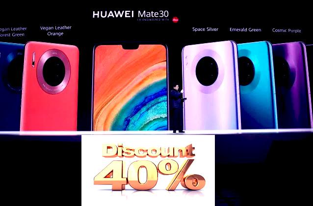 قد أثرت العقوبات الاقتصادية الأمريكية على شركة هواوي بشكل كبير في الآونة   الأخيرة .    إلا أن سلسلة Mate30 الأخيرة تشهد طلباً قوياً خاصة في الصين. تم عرض هذه السلسلة الجديدة من الهواتف الذكية رسميًا للبيع في الصين يوم أمس، وهو اليوم الذي نجحت فيه الشركة الصينية ببيع وحدات بقيمة تصل إلى 70 مليون دولار أمريكي في أول دقيقة فقط من عرض السلسلة على متجر VMall.com.    قامت شركة Huawei الآن بإطلاق طرازات 4G فقط من سلسلة هواتف Huawei Mate 30 Series، ولكن لا تزال لدى الشركة خطط لإطلاق طرازات 5G من سلسلة هواتف Huawei Mate 30 Series في شهر نوفمبر المقبل. في يوم الإطلاق، قامت شركة Huawei ببيع النسخة الأساسية من الهاتف Huawei Mate 30 مقابل 561 دولار أمريكي تقريبًا، أي حوالي 35% أقل من السعر الرسمي البالغ 874 دولار أمريكي والذي تم الإعلان عنه في حدث الإعلان الرسمي في مدينة ميونخ الألمانية. أعلن الرئيس التنفيذي لشركة Huawei، السيد Richard Yu أن الأسعار تخفض نفسها على وسائل التواصل الإجتماعي الصينية.