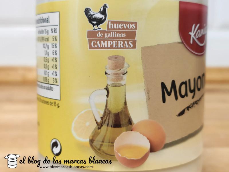 Mayonesa (frasco de cristal) KANIA (Lidl) en El Blog de las Marcas Blancas.